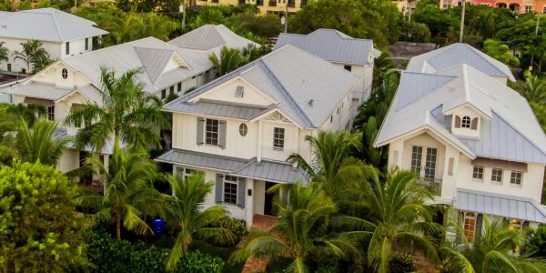 Metal Roof Top Front View of Home Project   Gulf Coast Roofing   Naples, Florida