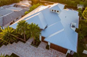 Metal Roof Top View of Home Project | Gulf Coast Roofing | Naples, Florida