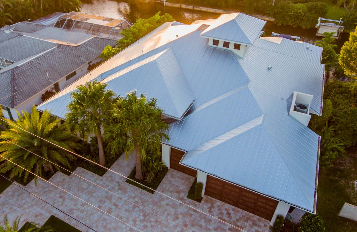 Metal Roof Top House Project Gulf Coast Roofing Naples